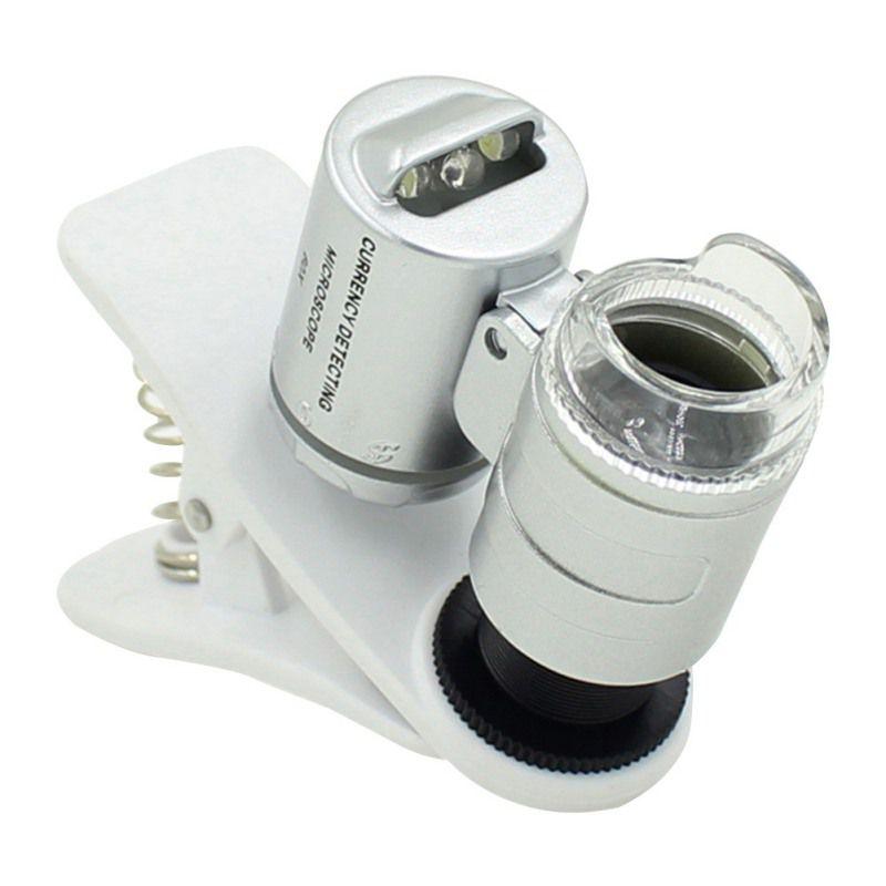 Mini Microscópio 60x  Clip Phone Controle De Pragas E Tricomas