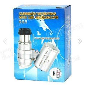Mini Microscópio 60x Controle De Pragas E Tricomas