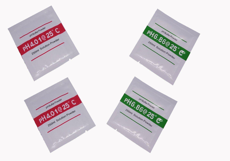 Sachês Solução De Calibração De Phmetro 6,86 E 4,0 (2 pares)
