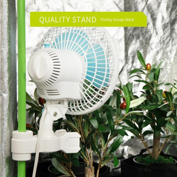 Ventilador Clip Oscilante 2 Velocidades Barraca Cultivo Indoor
