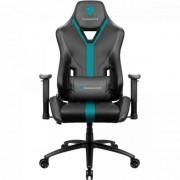 Cadeira Gamer YC3 PRETA/CIANO THUNDERX3