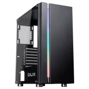 GABINETE GAMER GALAX QUASAR PRETO RGB - GX600
