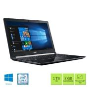 Notebook ACER 15,6 LED A515-51-56K6/ I5-7200U/ 8GB/ 1TB/ W10 SL/ TEC Numerico