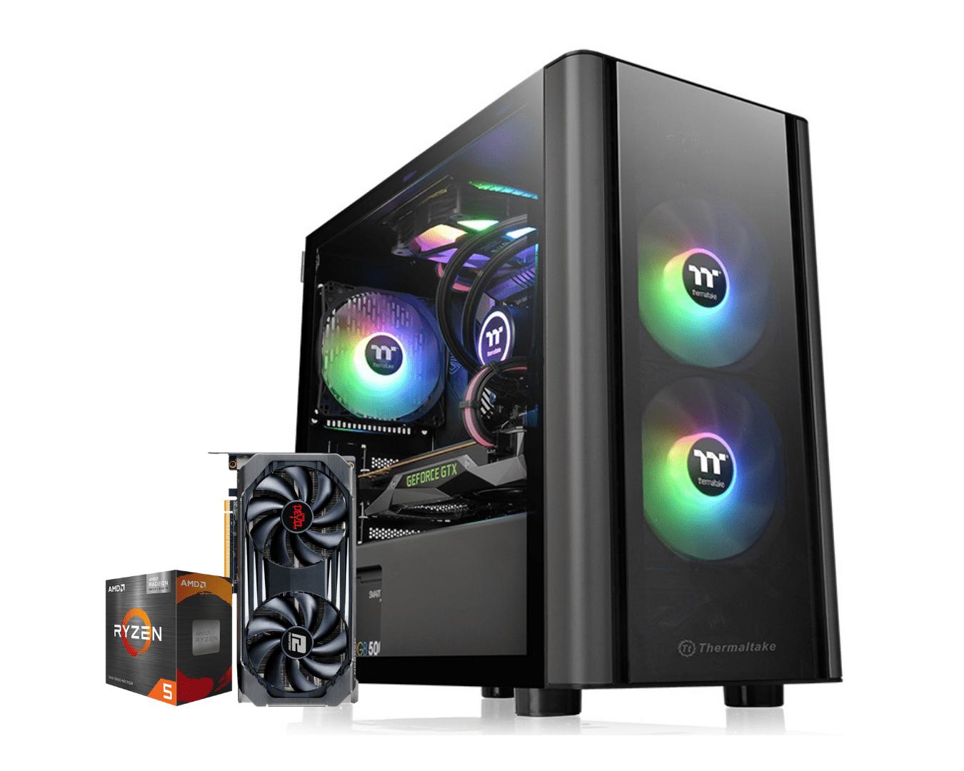 Computador Gamer Amd Ryzen 5 5600G Rx 6600XT 8GB Ram 16GB HD 1TB Ssd 240GB