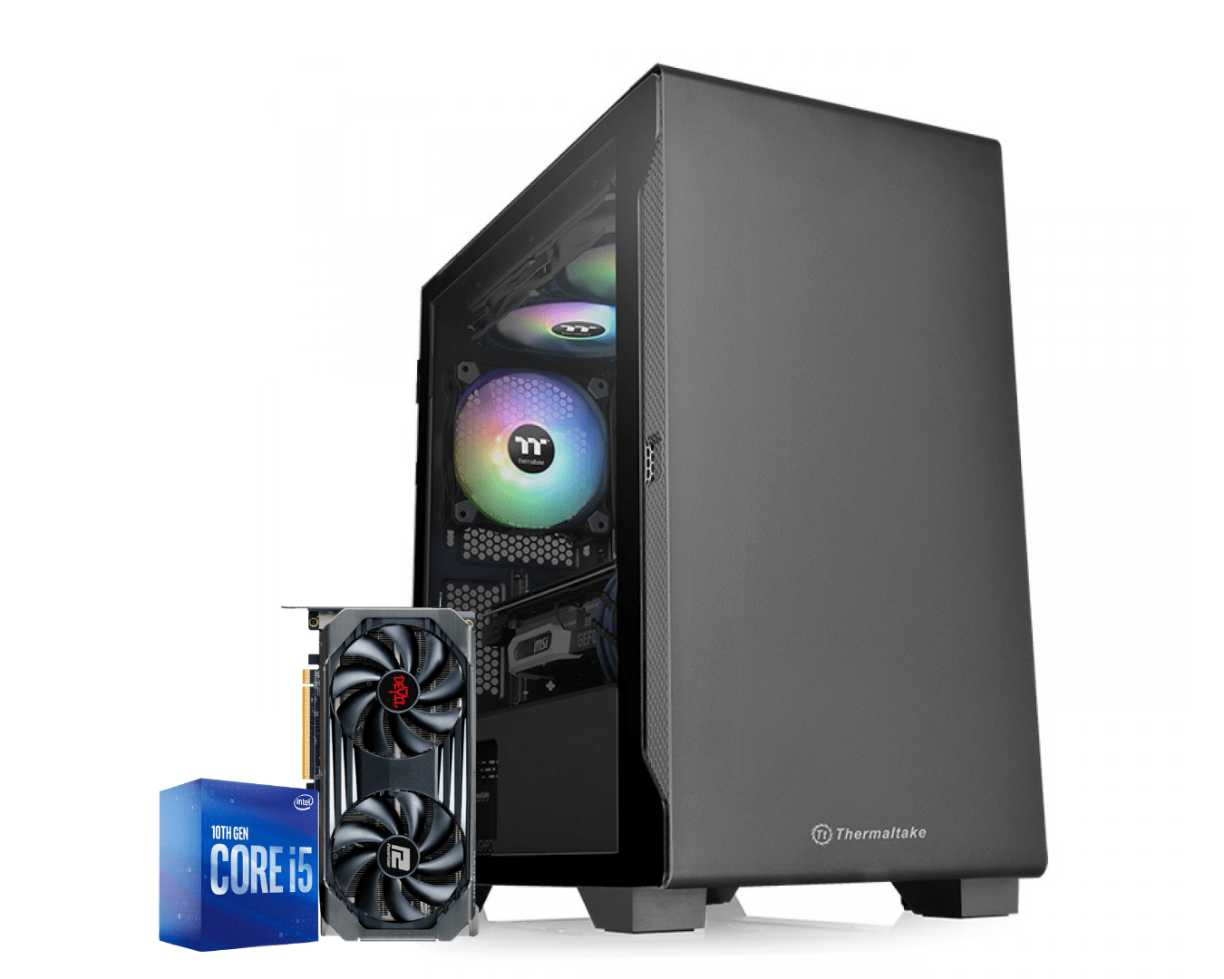 Computador Gamer Intel I5 10400F Rx 6600XT 8GB Ram 16GB HD 1TB Ssd 240GB