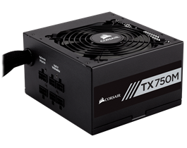 Fonte Corsair 750W 80 PLUS GOLD Modular TXM750 - CP-9020131-WW