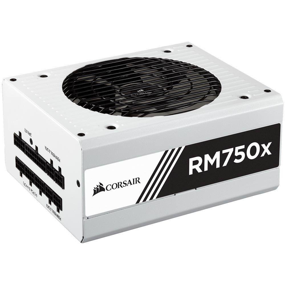 Fonte Corsair 750W 80 PLUS GOLD RMX White FULL MODULAR- CP-9020155-WW