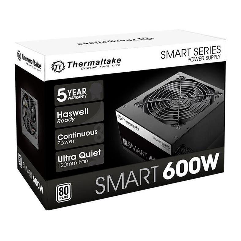 FONTE THERMALTAKE SMART SERIES 600W 80 PLUS WHITE -  PS-SPD-0600NPCWBZ-W