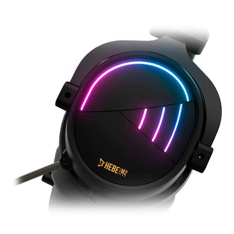 HEADSET GAMER GAMDIAS HEBE M2 PRETO RGB 7.1