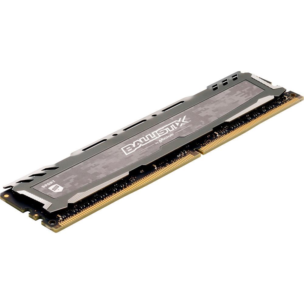 Memória Crucial Ballistix Sport LT 8GB 2400Mhz DDR4 Cinza - BLS8G4D240FSBK