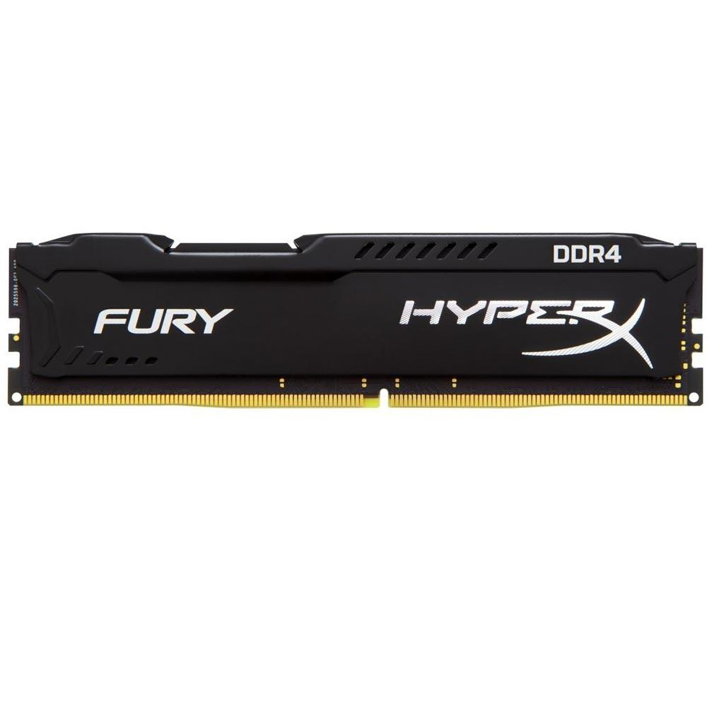 Memória RAM Kingston HyperX Fury 16GB DDR4 2400MHz Preto - HX424C15FB/16