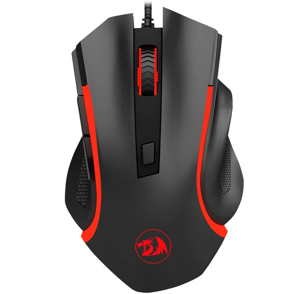 MOUSE GAMER REDRAGON NOTHOSAUR PRETO - M606