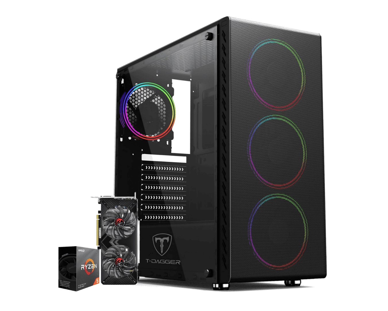 Pc Gamer Amd Ryzen 5 3600 Gtx 1660 Super 6GB Ram 16GB HD 1TB Ssd 120GB