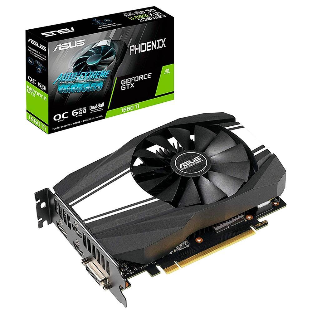 Placa de Vídeo ASUS Geforce GTX1660TI 6GB - PH-GTX1660TI-O6G