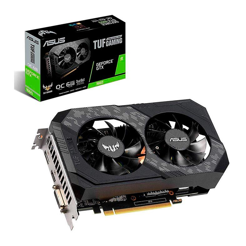 Placa de Video ASUS Geforce GTX 1660 TUF Gaming OC 6GB DDR6 192 BITS - TUF-GTX1660-O6G-GAMING