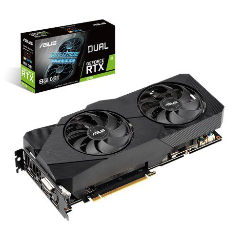Placa de Video ASUS Geforce RTX 2070 8GB DUAL-RTX2070-8G-EVO GDDR6