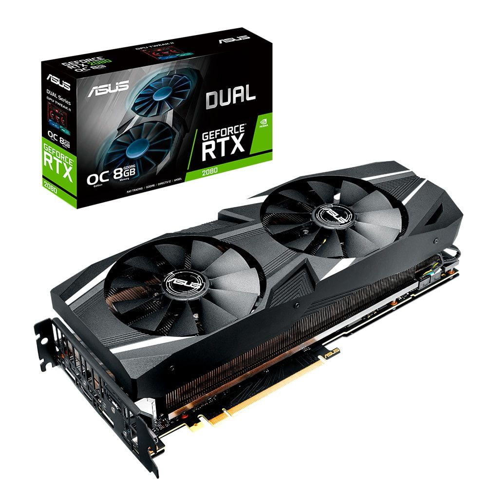 Placa de Video ASUS Geforce RTX 2080 8GB OC Dual DDR6 256 BITS - DUAL-RTX2080-O8G