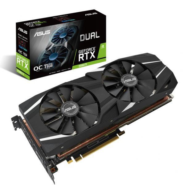 Placa de Video ASUS Geforce RTX 2080 TI OC 11GB DDR6 352BITS - DUAL-RTX2080TI-O11G