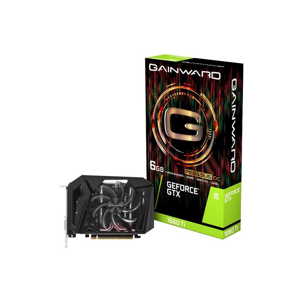 Placa de Vídeo Gainward Geforce GTX 1660 TI Pegasus OC 6GB GDDR6 PCI-EXP - NE6166TS18J9-161F