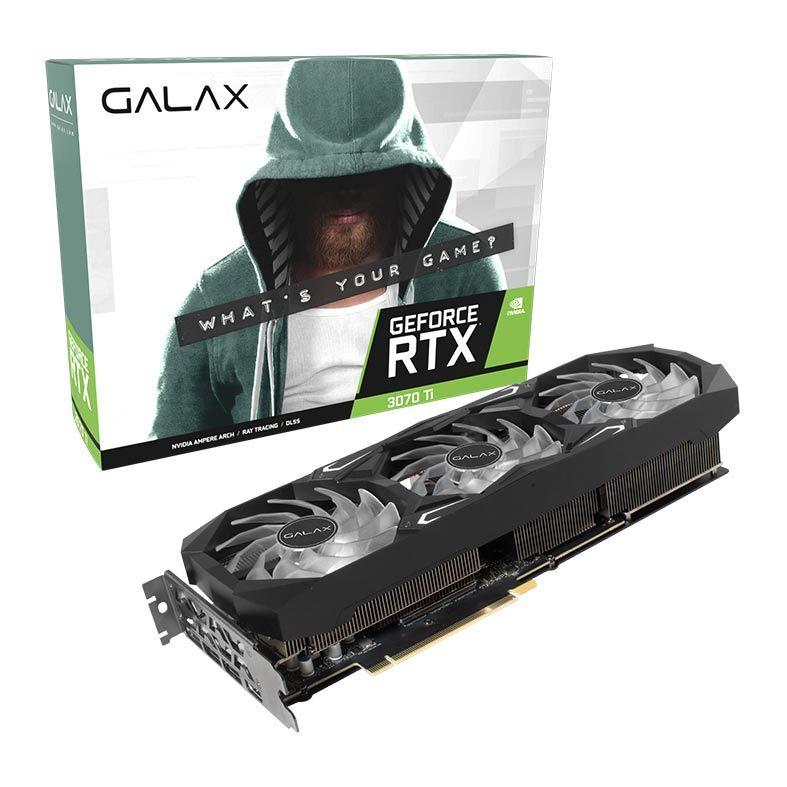 PLACA DE VIDEO GALAX GEFORCE RTX 3070 TI SG 8GB GDDR6X 1-CLICK OC 256-BITS - 37ISM6MD4BSG