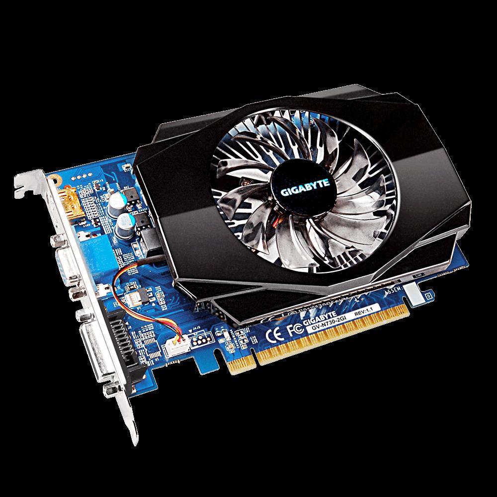 Placa de Video Gigabyte Geforce GT 730 2GB DDR3 128 BITS - GV-N730-2GI