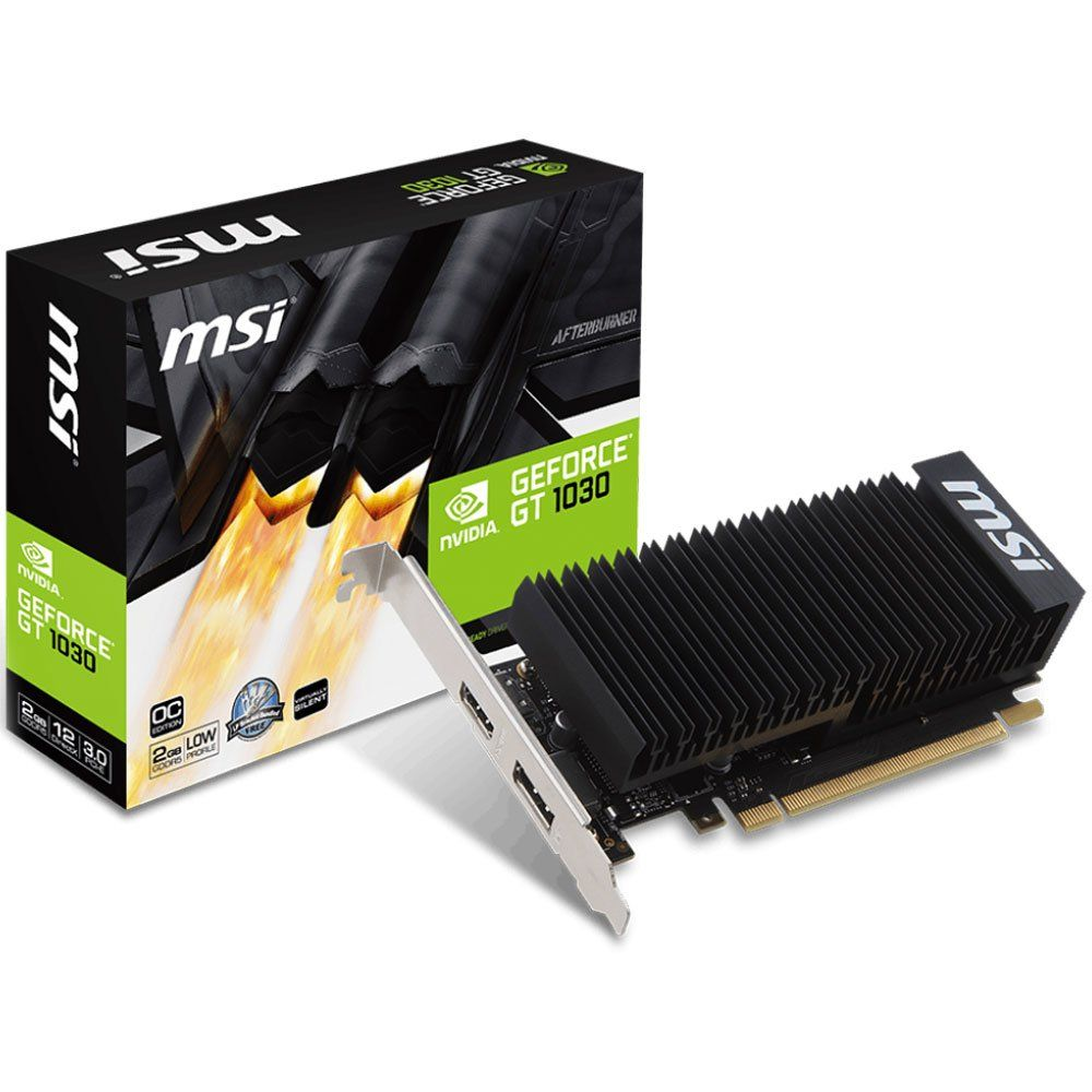 Placa de Video MSI Geforce GT 1030 LP OC 2GB DDR5 64 BITS - Geforce GT 1030 2GH LP OC