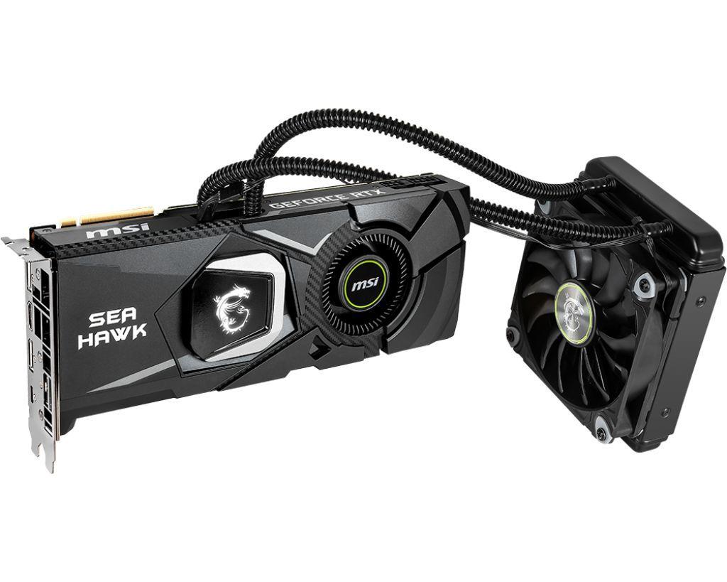 Placa de Video MSI Geforce RTX 2080 Sea HAWK X 8GB DDR6 256 BITS - RTX 2080 Sea HAWK X