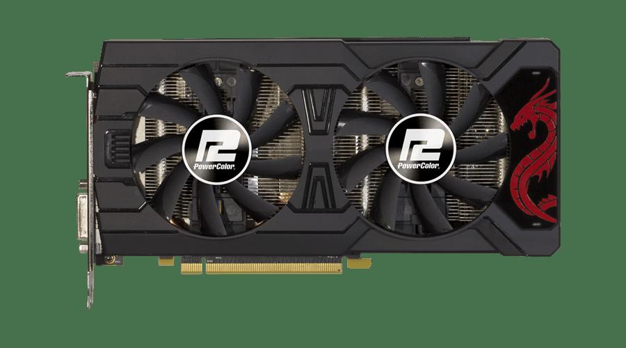 Placa de Video Power Color Radeon RX 570 Dragon 8GB DDR5 256 BITS - AXRX570 8GBD5-3DHD/OC