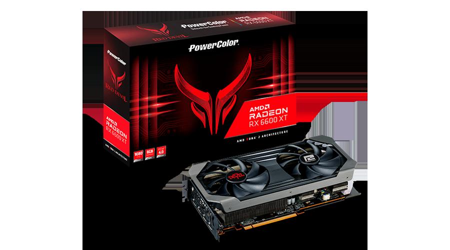 PLACA DE VÍDEO POWER COLOR RADEON RX 6600XT RED DEVIL 8GB GDDR6 128 BITS - AXRX 6600XT 8GBD6-3DHE/OC