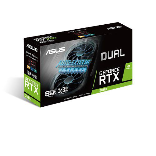 Placa de Video RTX 2080 8GB  ASUS Geforce DUAL-RTX2080-8G-EVO  GDDR6