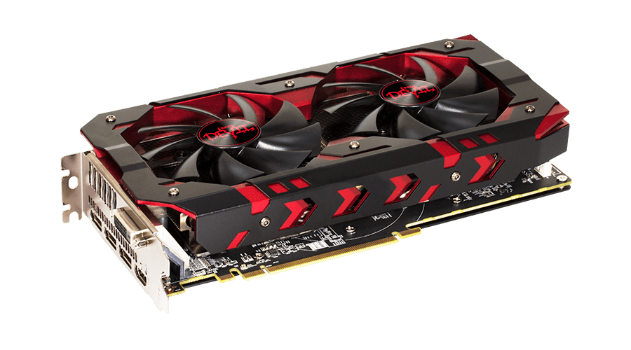 Placa de Video  RX 580 8GB RED Devil Power Color AXRX 580 8GBD5-3DH/OC
