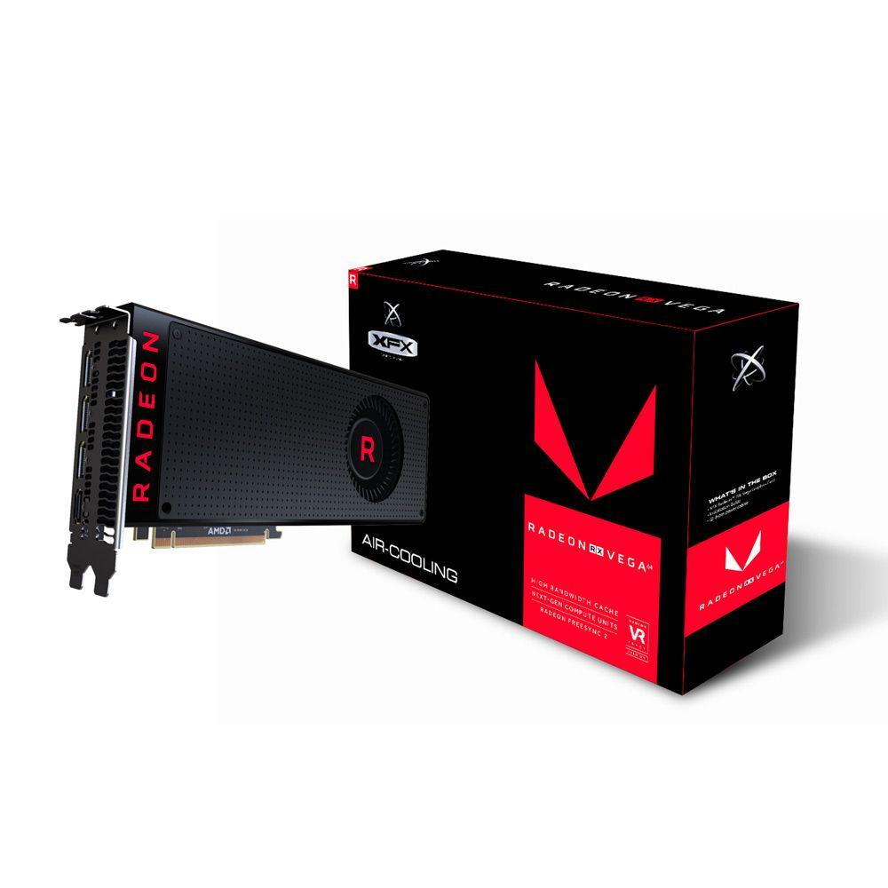 PLACA DE VÍDEO RX VEGA 56 RADEON HBM2 8GB BLACK FAN XFX RX-VEGMLBFX6