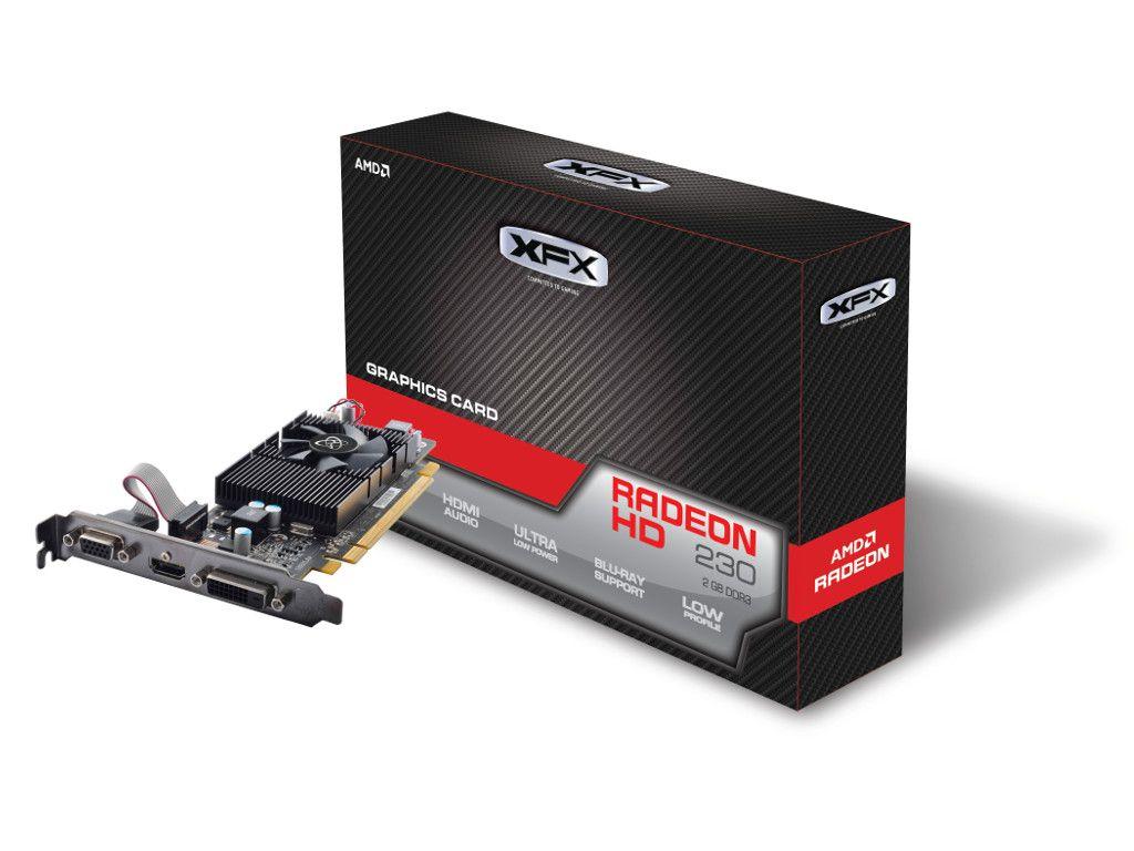 PLACA DE VIDEO XFX R5 230 2GB CORE RADEON 128BITS DDR3 650M XFX R5-230A-CLF2