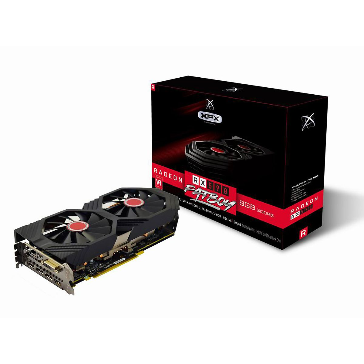 PLACA DE VIDEO XFX RADEON RX 590 FATBOY 8 GB OC - RX-590P8DFD6
