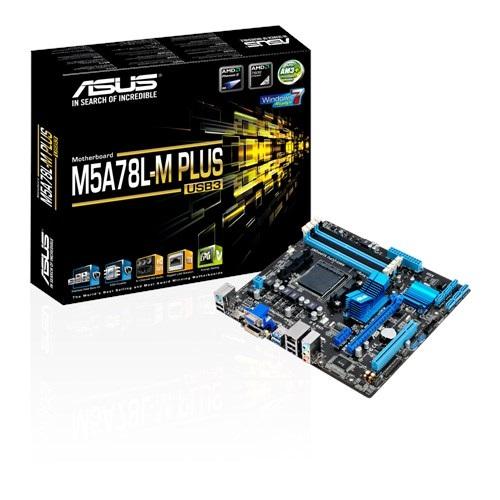 Placa Mae ASUS AMD 760G (780L)/SB710 MATX (AM3+) DDR3 - M5A78L-M PLUS/USB3-