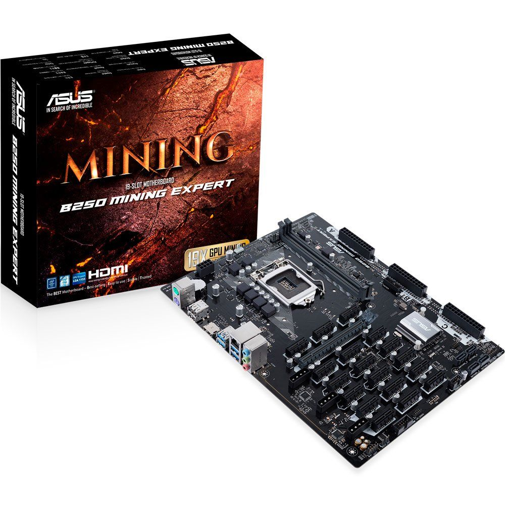 Placa Mae ASUS B250 ATX (1151) DDR4 - B250 Mining EXPERT - 7ª GER (mineracao)