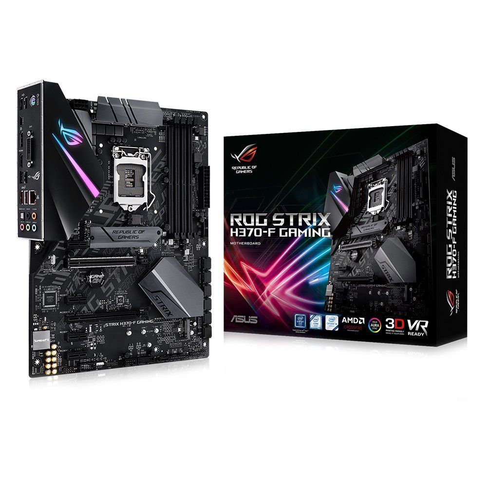 Placa Mae ASUS H370 ATX (1151) DDR4 - ROG STRIX H370-F Gaming - 8A GER - Compativel C/ INTEL Optane