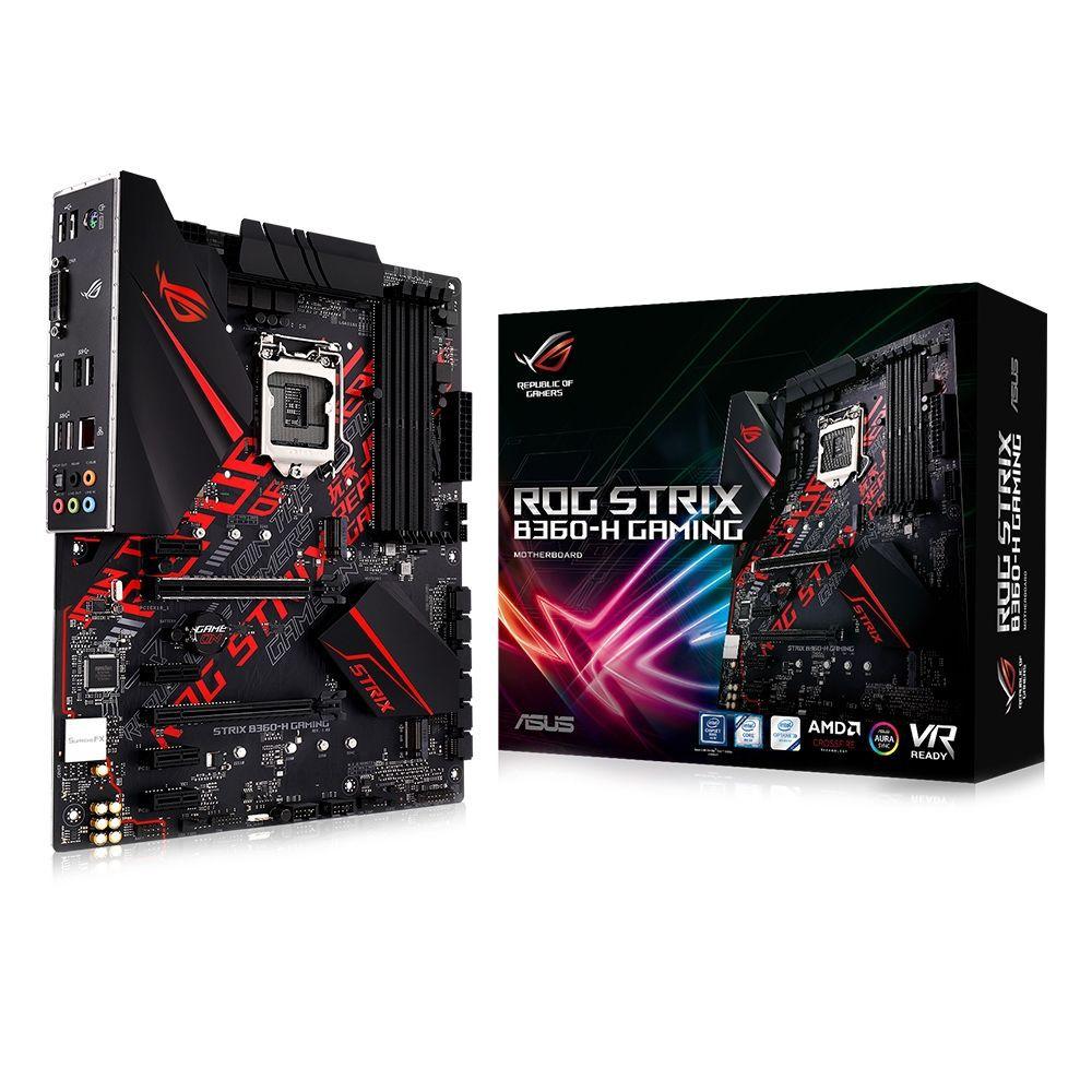 Placa Mae ASUS B360H Gaming ATX (1511) DDRA Series 300 - ROG STRIX B360-H Gaming