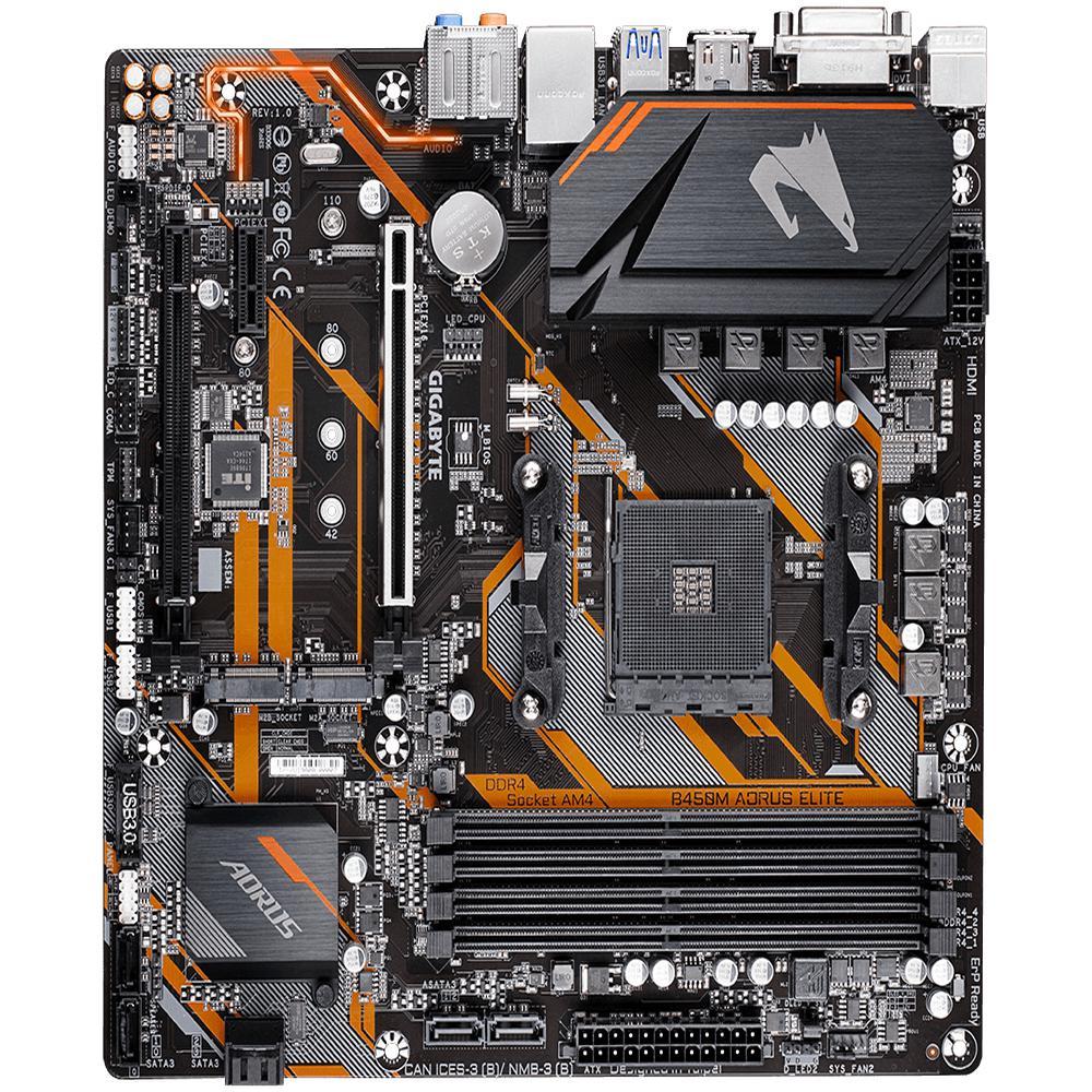 PLACA MÃE GIGABYTE B450 AORUS ELITE DDR4 AM4