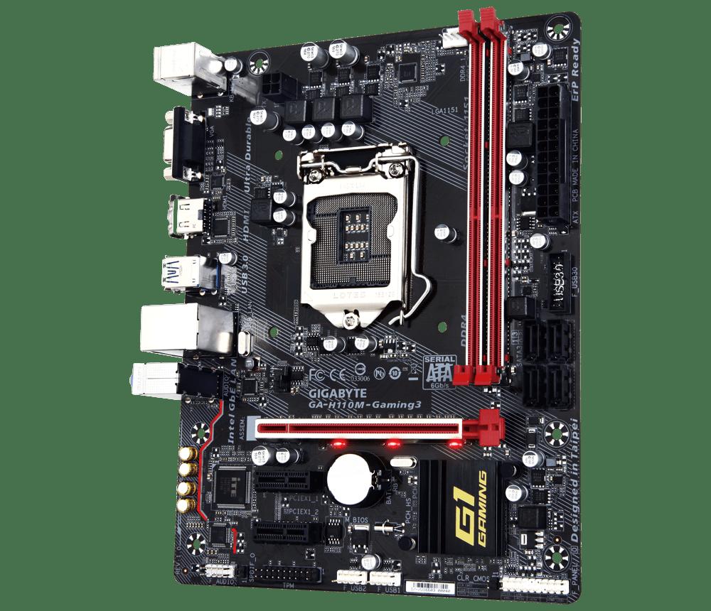 Placa Mae Gigabyte H110 M-ATX (1151) DDR4 - GA-H110M-GAMING 3 - 7A GER/6A GER
