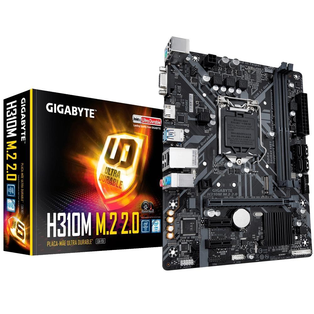 PLACA MÃE GIGABYTE H310M M.2 2.0 DDR4 LGA 1151