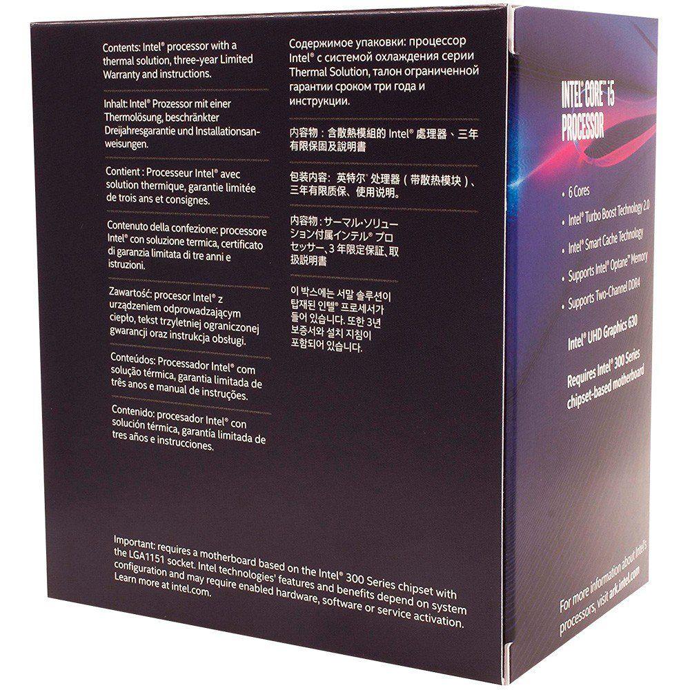 Processador INTEL 8400 Core I5 (1151) 2.80 GHZ BOX - BX80684I58400 - 8A GER