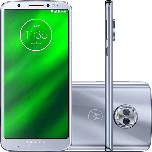 Smartphone Motorola Moto G6 Plus 64GB XT1926 Desbloqueado azul Topázio