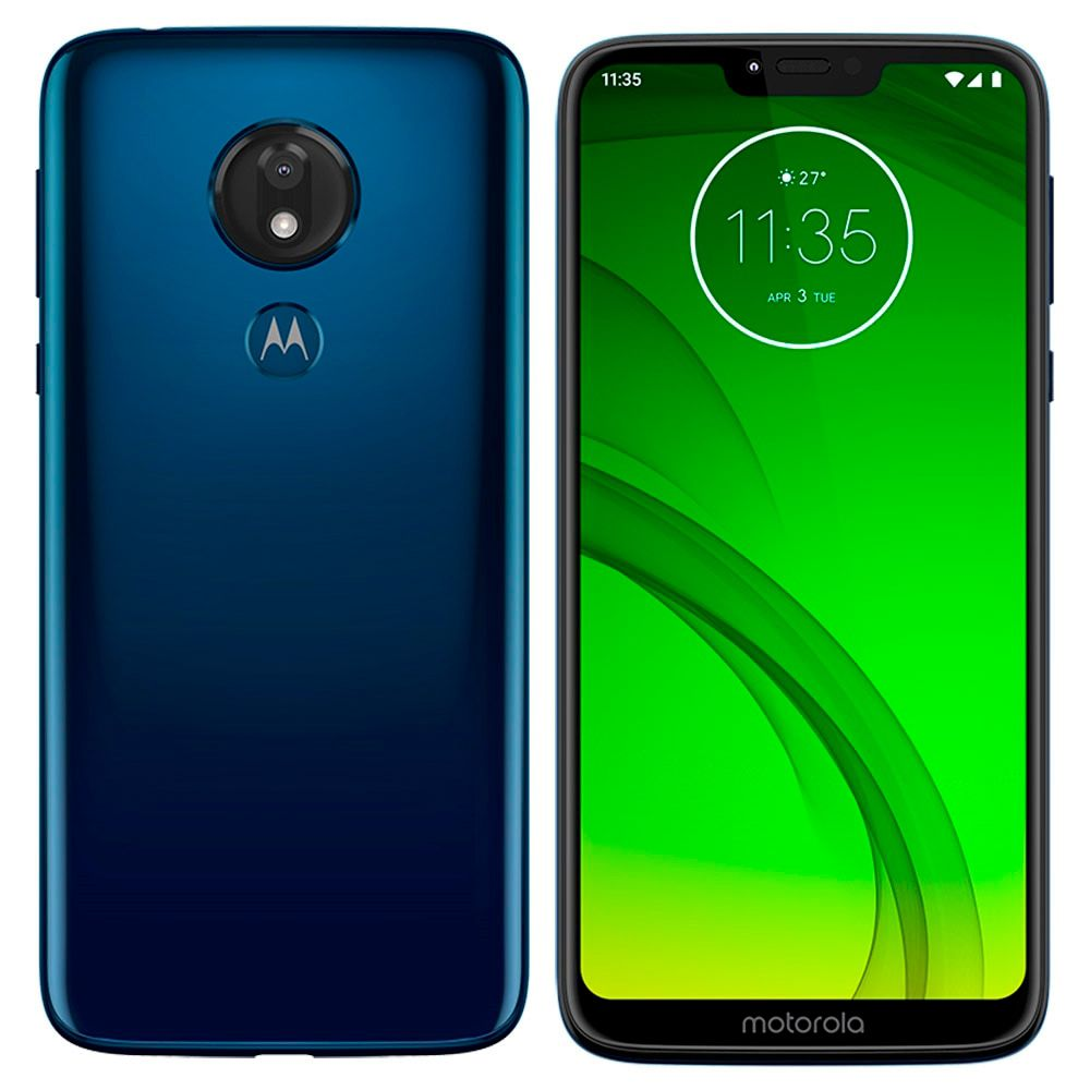 Smartphone Motorola Moto G7 POWER XT1955-1, Android Pie 9.0,  Dual chip, Tela 6.2  Azul Navy