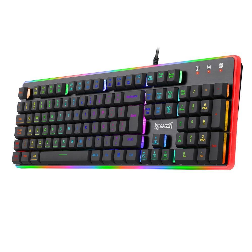 TECLADO GAMER REDRAGON DYAUS 2 RGB PRETO - K509RGB