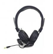 Fone De Ouvido Headphone C/ Fio Computador Celular Pc P2 A-865 PRETO