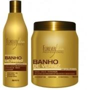Forever Liss Banho de Verniz Kit Duo (Shampoo+Máscara 1Kg)
