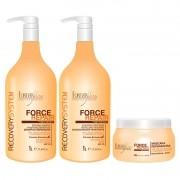 Forever Liss Force Repair Kit Reparador (Shampoo 1L + Condicionador 1L + Máscara 500g)
