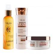 Kit Banho De Verniz Shampoo e Máscara 250g e Botox Líquido Ykas