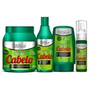 Kit completo Forever Liss Cresce Cabelo Shampoo 500ml+máscara 1Kg+ Leave In 140g+tônico 60ml